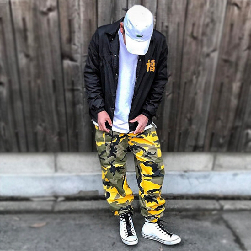 Streetwear Camouflage Safari Jogger Pants European American Men Women Fashion Multi-pocket Ankle Strap Elastic Sweatpants XS-3XL