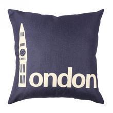 Hot Sale London Printed Soft Square Throw Pillow Cases Home Sofa Car Decoration Cushion Cover New