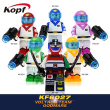 Super Heroes Star Wars Voltron Team Godmars Movie Six God Combination Bricks Set Model Building Blocks Children Gift Toys KF6027(China)