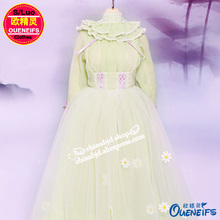 OUENEIFS free shipping ,Long sleeved dress,Fashion elegant baby clothes,1/4 bjd/sd doll clothes,no doll or wig YF4-138(China)