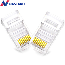 NASTAKO 100/1000pcs Cat5 Cat5e RJ45 Connector RJ45 Crystal Modular Plugs Cat 5e Ethernet Network Cable 8P8C cat5 RJ45 Connectors(China)