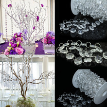 1meter x 10/ Pack  Acrylic Beaded Clear Bead Garland Chandelier Tree Hanging For Event Wedding Centerpieces Party Decorations