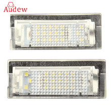 1 Pair LED License Plate Light Number Plate Lamp For BMW E39 5D 5 Door Wagon Touring Error Free(China)
