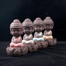 Buddha statue incense cones ceramic incense burner stove disc burner sandalwood incense coil Buddha ornaments home(China)