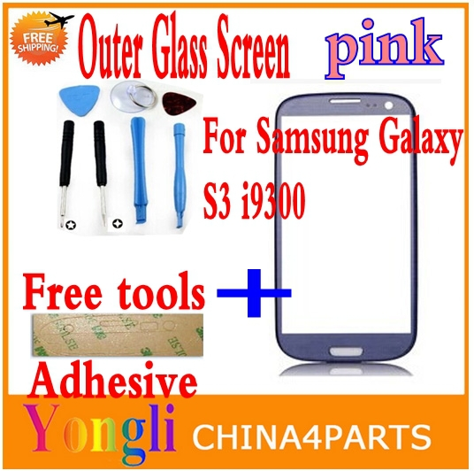 Freeshipping pink Color Front Digitizer Touch Outer Glass Lens Screen for samsung Galaxy S3 9300<br><br>Aliexpress