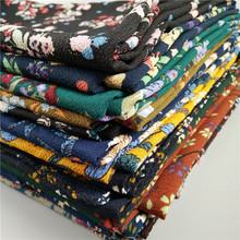 30 Color High Quality Nice floral print bubble chiffon shawl wrap hijab scarf women fashion flower head wrap scarves(China)