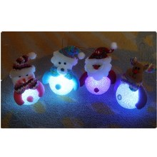 LED Night Light Lamp Santa Claus Snowman Deer Bear Xmas Ornaments Party Supplies Christmas Decorations For Home Natal Navidad