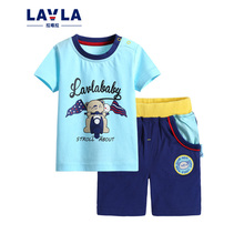 New 2016 Childrens Sets Baby boys clothes summer girls kid cotton clothing set t shirt tops pants cartoon print outerwear Tees