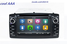 Car DVD Player GPS Navigation For BYD F3 To yota Corolla E120 2003 2004 2005 2006 with Bluetooth Radio free map 3G(China)