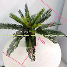 2017 New Artificial Phoenix Coconut Palm Cycas Fern Plant Tree Christmas Home Outdoor Sago Office Furniture Decor Bush Green