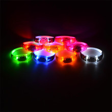 8 Colors Music Activated Sound Control Led Flashing Bracelet Light Up Bangle Wristband Night Club Activity Party Bar Disco Cheer