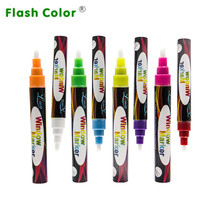 Flashcolor 6mm Office&School Supplies Good Price Highlighter Liquid Chalk Pen for White/Blackboard Neon Painting Pens 8 Colors