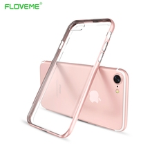 FLOVEME Bumper Cover Case For iPhone 7 / 7 Plus Fusion Crystal Clear Back Panel Silicone Protection Phone For iPhone 7 Aluminum