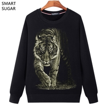 SMARTSUGAR 3D Hoodies Tiger Long Sleeve 2017 Autumn Winter Pullovers Funny Brand Clothing Tracksuits Men Fleece Tops 5XL