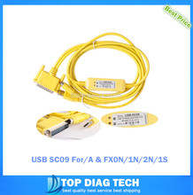 5pcs PLC Programming Cable Date Cable USB SC09 For Mitsubishi A & FX0N/1N/2N/1S series free fast ship