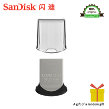 Sandisk CZ43 Glide mini USB Flash Drive 32GB up to 150m/s 64GB 32gb Pen Drive 3.0 Support Official Verification 100% Original(China)