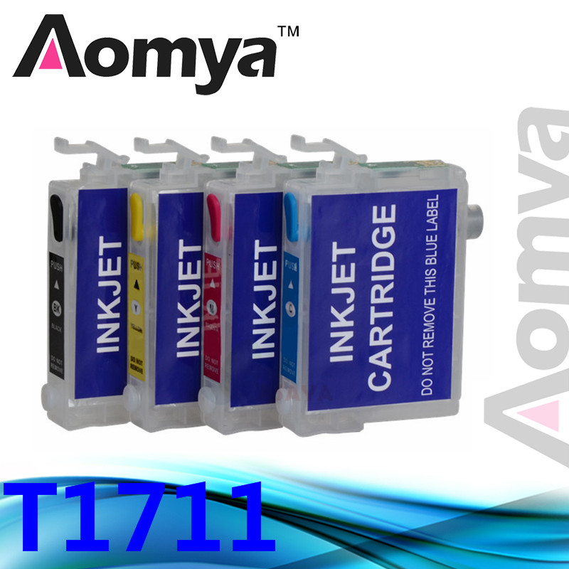 Refill Ink Cartridge For T1711 Compatiable FOR EPSON XP-103 XP-203 XP-207 XP-303 XP-306 XP-33 XP-406 printers ink with Chip<br><br>Aliexpress