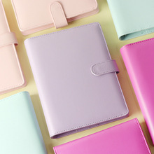 2017 New Korean Kawaii Macaroon Personal Organizer Business Office Leather Binder Notebook Agenda Planner Travel Journal A5 A6
