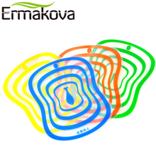 ERMAKOVA 4 Pcs/Lot Flexible Kitchen Plastic Chopping Block Cutting Board Breadboard Non-slip Frosted Antibacteria Cutting Block(China)