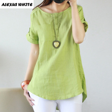 Linen Shirts for Woman 2017 Summer Women's Larges Size Clothing Mori Girl Blouse XXXL Cotton Tops Female Blusas Mujer