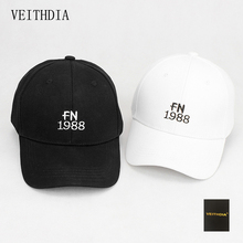 VEITHDIA new couple simple couple FN1988 alphabet embroidery baseball cap golf hat curved eaves hat