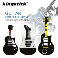 New style pendrive genuine Guitar model USB flash drive 32GB USB 2.0 4GB 8GB 16GB pen drive memory music U Disk 64GB