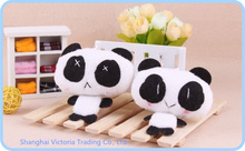 10PCS Kawaii Lover Panda 7*6CM  DOLL Plush Stuffed TOY DOLL -  Phone Charm Strap Lanyard Pendant BAG Key Chain