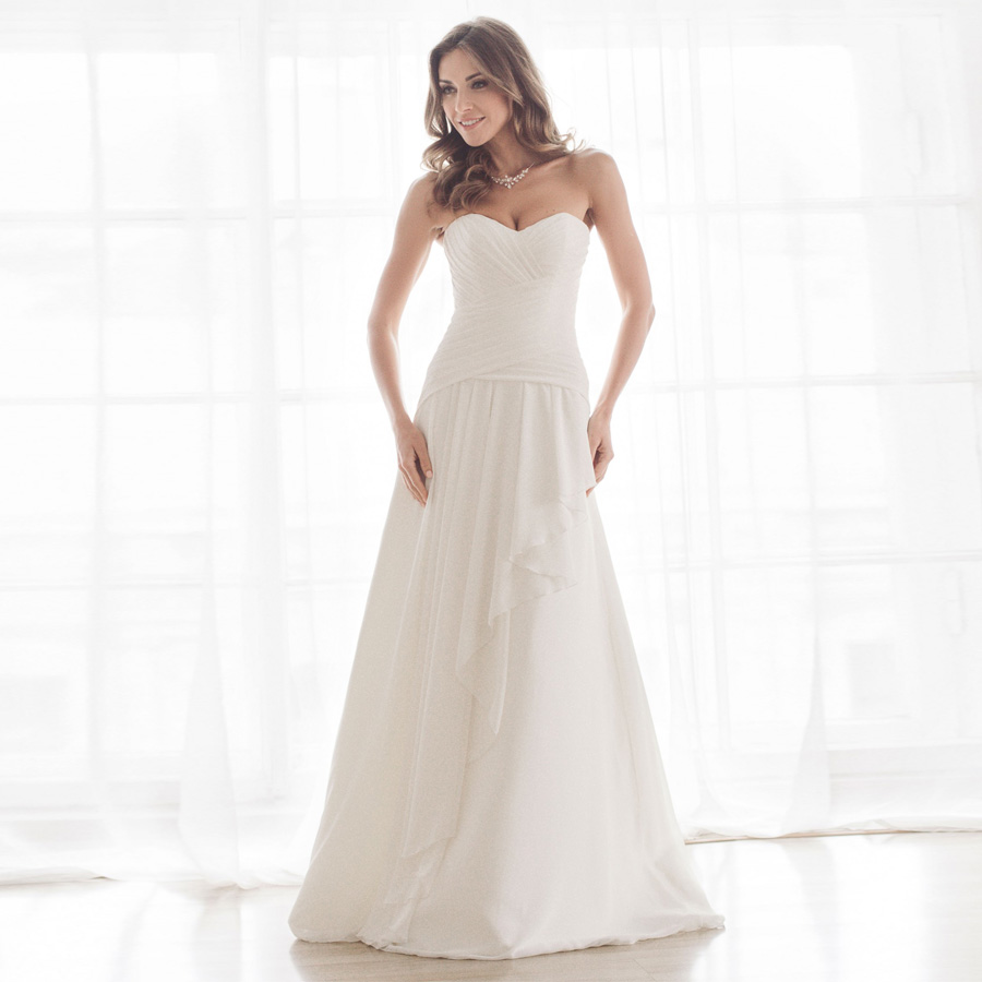 ADLN Cheap Sweetheart Sleeveless Chiffon Wedding Dresses Pleats Summer Beach Wedding Gowns vestido de noiva back lace-up