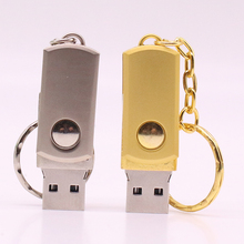 USB Disk 4GB 8GB 16G 32G Stainless Steel Usb Flash Drive Metal Rotate Usb Flash Drive usb Flash Memory Pen Drive 64gb
