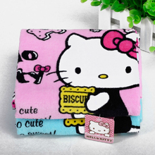 1PCS Hand Towel HELLO KITTY Soft Face Towel Cleaning Towel Dry Hair Towel for Kitchen Bathroom Products 5D(China)