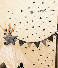 170pcs mixed 3 size S/M/L stars love arrow pattern children kids BEDROOM decor WALL stickers,free ship(China)