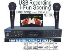 MIDI /DVD Karaoke Player/Recorder system with songs DVD/DviX/VCD ,Play song from USB /SD card/Disc(China)