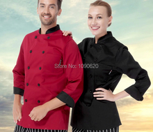 High quality  refined Chef long sleeve top clothes good quality work suit cook clothing
