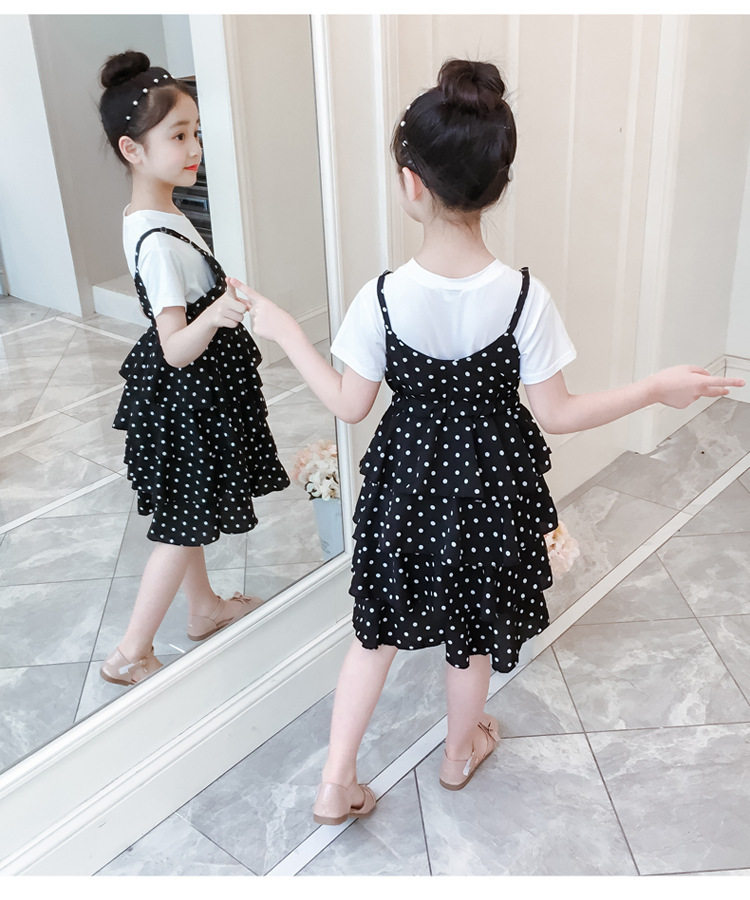 2 Pcs Teenage Girls Clothing Sets Kids Outfits Baby Girls Fashion Clothing Sets Kids Sleeveless Dress And T Shirts Clothes Suits 19 Online shopping Bangladesh