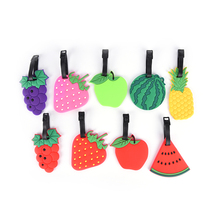 Travel Accessories Watermelon Banana Apple Cute Fruit Luggage Tag Suitcase Name ID Address Tags Fashion Silicon Label Bag Tag(China)