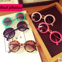 Fashion Round Cute Brand Designer Child Sunglasses Anti-uv Baby Vintage Glasses Girl Cool Eyewear Boys Kids Oculos(China)