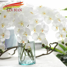 For Party Silk Orchid Artificial Flower heads ,butterfly orchid Flowers for Wedding Decoration(China)