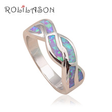 New coming 2015 Fashion Jewelry Rings for women Light Purple Fire Opal stamp Silver Ring USA #6#6.5#7#7.5#8#9 OR681