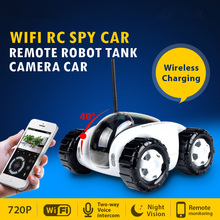 2016 Wireless WiFi RC Spy Car Remote Moving Robot Tank IP Camera Smart Phone Remote Control Wireless Baby Monitor Baby Camera