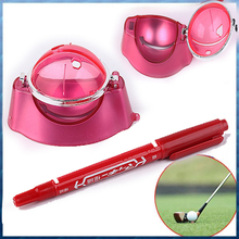 Free Shipping Brand New Golf Ball Linear Maker Template Draw Marks Angle W/Pen Hot Sale