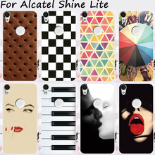 Mobile Phone Cases For Alcatel Shine Lite Cover One Touch Shine Lite 5080 5080X Soft TPU Silicon Skin Artistic Painting Housing
