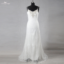 RSW1103 Sexy Lace-Backless A Line Simple Lace Wedding Dresses
