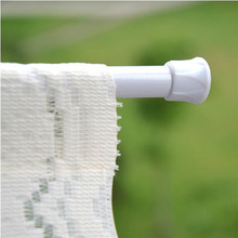 Shower Curtain Pole Rod Hanger Adjustable 30-50CM Spring Net Bathroom Rods Voile Extendable Tension Telescopic Spring Loaded(China)