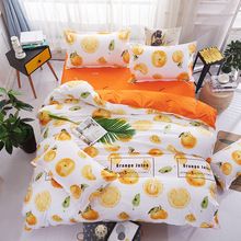 Fruit Orange Bedding Sets Duvet Cover Set Queen Size 1 Quilt Cover 1 Bedsheet 2 Pillowcase Bed Linen Comforter Cover Bedclothes(China)