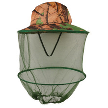 3pcs/Lot Camouflage Mosquito net outdoor fishing hat Beekeeping Hat Flying Insects Prevention Cap Bucket Hat Bee bug mesh hat(China)
