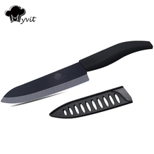 "Myvit Single 3"" /4""/ 5""/ 6 "" inch Ceramic Kitchen Chef Knife Black Blade 4 Colors Handle Ceramic Knife Japanese Cooking Tools"