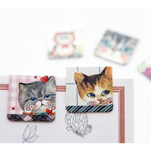 X05 3pcs/pack Cartoon Elegant Uncle Cat Magnetic Bookmark School Office Supply Student Stationery Clip Marker(China)