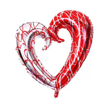 Buy TSZWJ U-020 Large hook heart shape foil balloons double color heart balloon wedding party decoration marriage balloons for $2.16 in AliExpress store