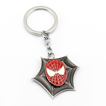 12Pcs/lot Spiderman Superman Thor Iron Man Keychain For Car Jewelry Superman   Batman Metal Key Chain Rings Holder Chaveiro