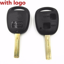 2 Buttons Short Blade 37mm - 38mm Length Replacement Key Shell For Lexus GX470 RX350 ES300 RX300 RX400h SC GS LS Blank Key Case(China)